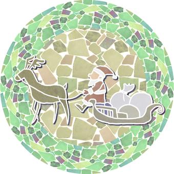 Mosaic Santa's Plate