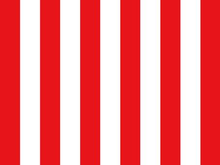 빨간색과 흰색 커튼