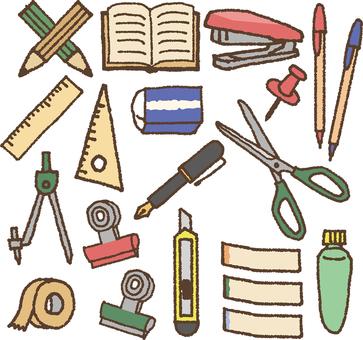 Stationery illustration set