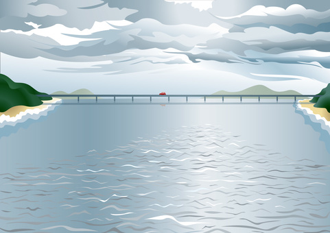 Bridge in the sea