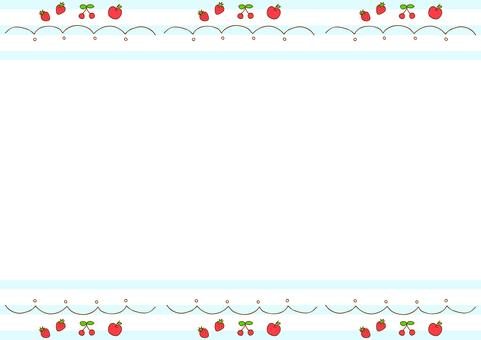 Fruit frame striped background