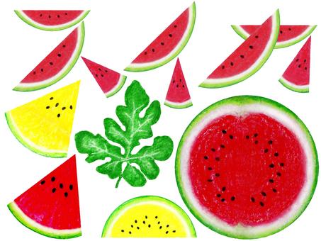 Watermelon horizontal letter A