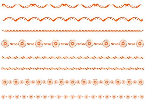 테두리 - 왜곡 곡선 - 오렌지