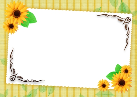 A bright sunflower message card