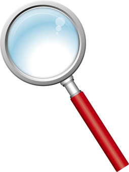 Magnifying glass (red)