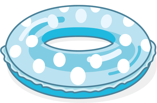 There is a float ring Dotspot blue line