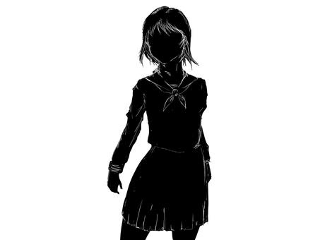 Schoolgirl silhouette