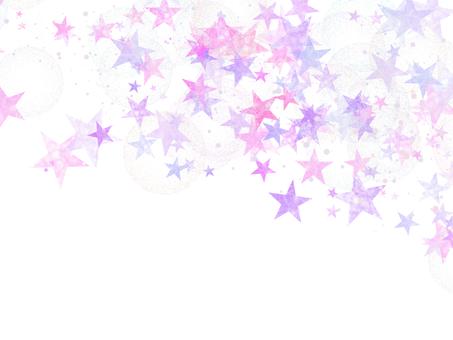 Star transparent background pink