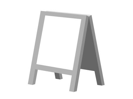 Stand billboard (monochrome · white board)