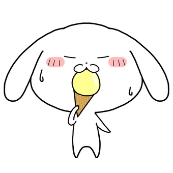 Doya face rabbit ice