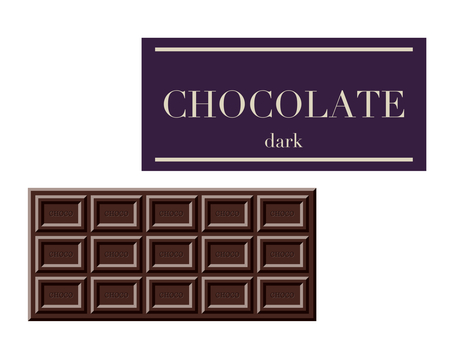 Illustration of chocolate bar (dark)