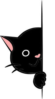 Walls Nyanko. Black cat