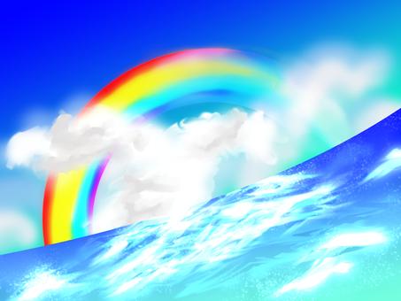Rainbow and the sea 170328