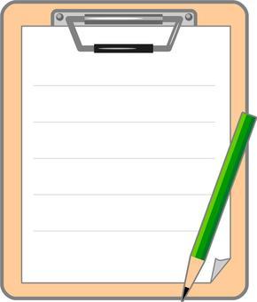 Binder and pencil