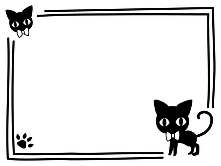 Black cat frame 2
