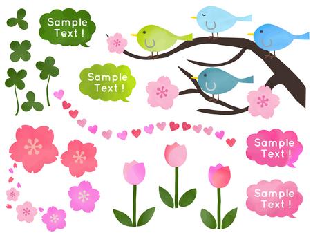 Spring illustrations material