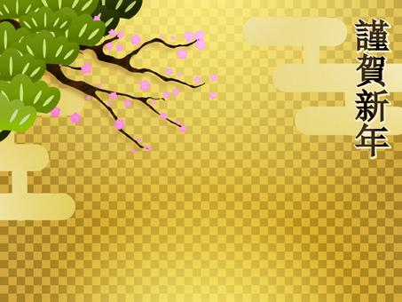 Gold market pine - pine plum -
