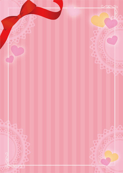 Heart ribbon striped background