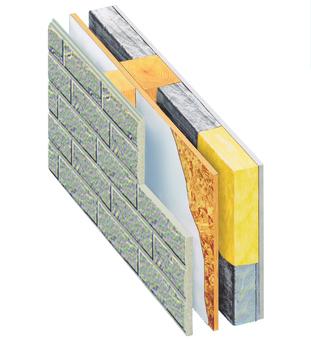 外殼外壁的隔熱結構圖