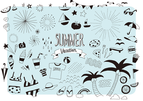 Summer hand drawn illustration 1