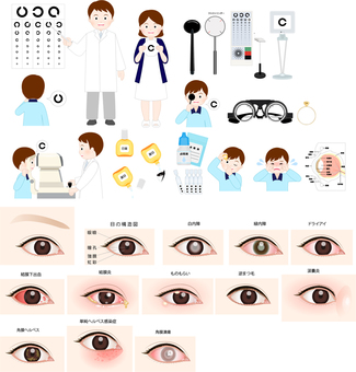 Ophthalmic icon set