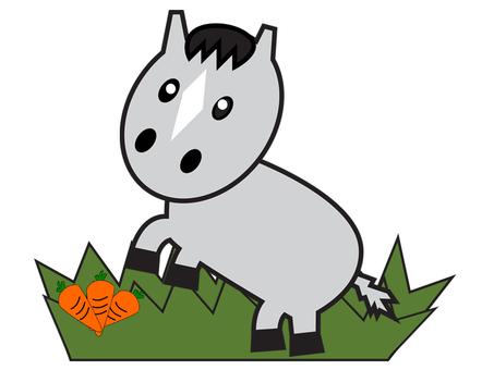 말 (회색 마)