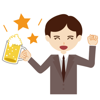 Cheers with beer! Image of men