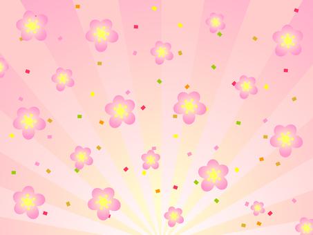 매화의 꽃 분홍색 배경 복사