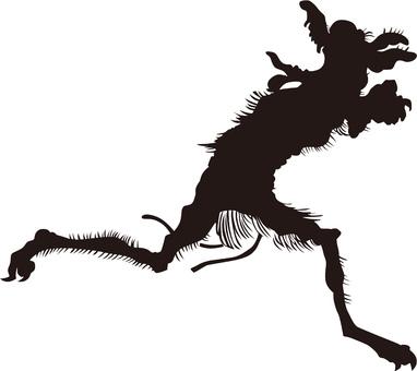 Ukiyo-e character silhouette part 85