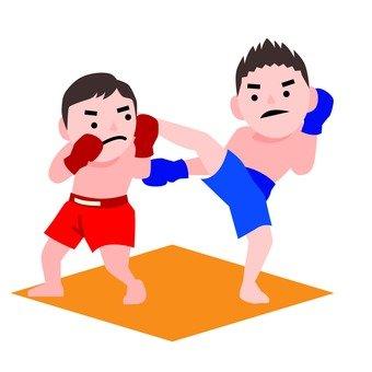 Kickboxing match