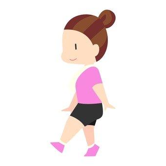 다이어트 - 걷는 여자