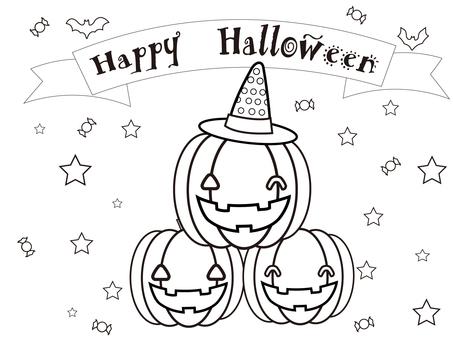 Coloring book ③ (Halloween)