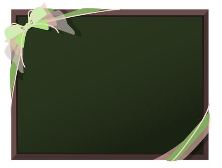 Blackboard and ribbon