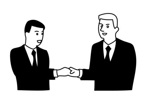 Handshaking businessman 1-2