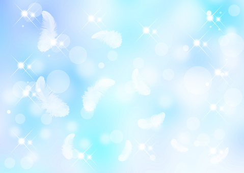 Feather blue background
