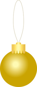 Decoration ball gold