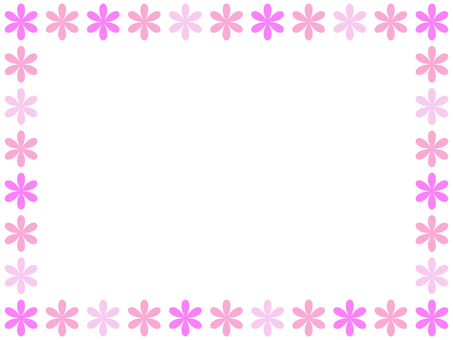 Flower frame 3 (pink)