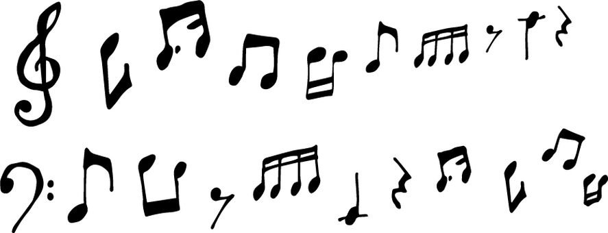 Musical notation line of treble and bassist