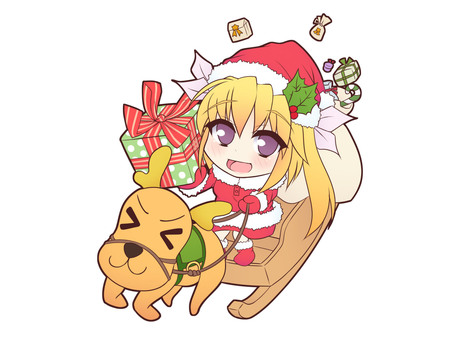 Santa and reindeer Re_B