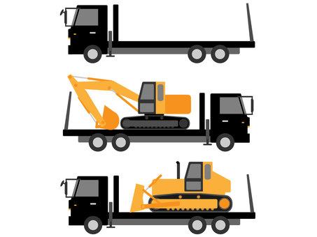 Heavy Equipment Carrier Self Loader