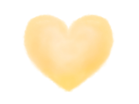 Watercolor heart yellow