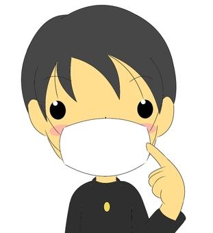 Wearing a mask · boys