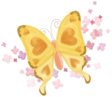 Butterfly and florets