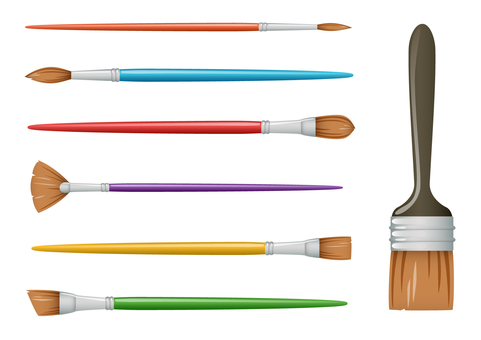 A variety of paintbrushes