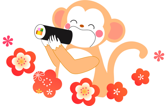 Monkey who eats Setsubori Egata winding
