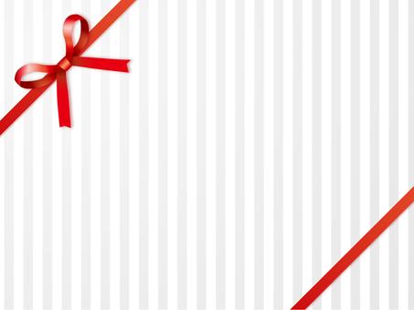 "Gift frame ""Red"" oblique ribbon"