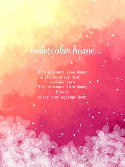 Hydrangea frame 04 / red