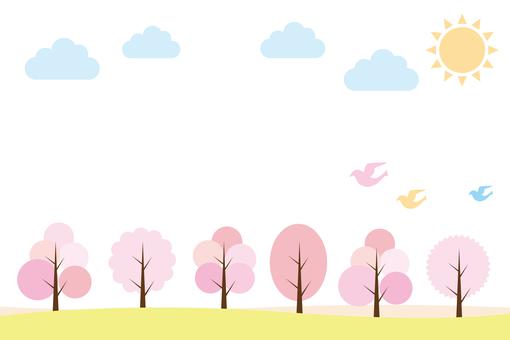 Spring Nature illustration 01
