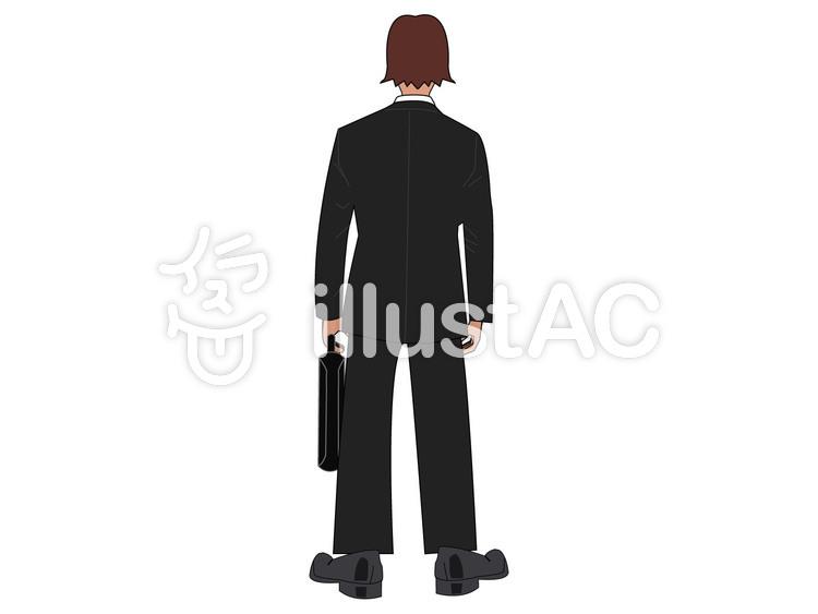 スーツの人の後ろ姿イラスト No 959062無料イラストならイラストac