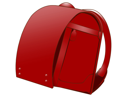 School bag (red)